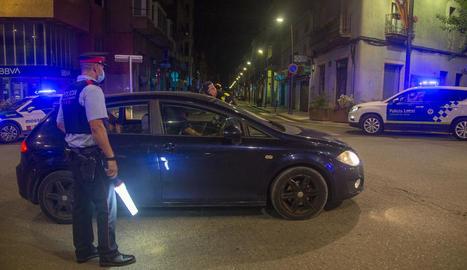 Control de Policia Local i Mossos a Tàrrega, al tram urbà de la C-14 al seu pas pel Pati.