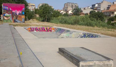 Vista general de la pista de skate de Tàrrega.