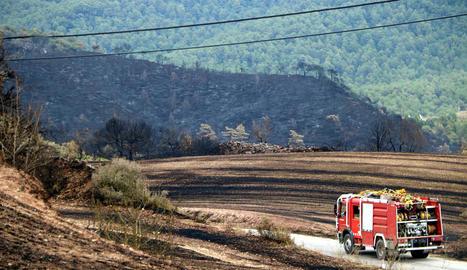Estabilitzat l'incendi de la Conca de Barberà i l'Anoia