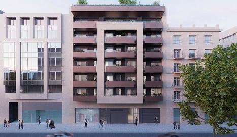 Imatge virtual del nou edifici que es construirà al número 43 de l'avinguda Francesc Macià.