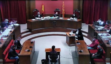 Imatge del judici celebrat contra la 'manada de Sabadell'.