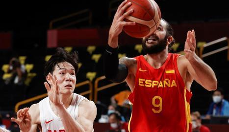 Ricky Rubio va ser el jugador més destacat de la selecció espanyola davant de l'amfitriona Japó.