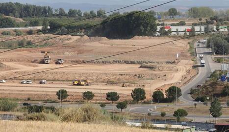 La zona on es farà el polígon de Torreblanca-Quatre Pilans.