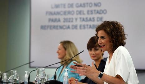 La ministra d'Hisenda, María Jesús Montero, ahir.