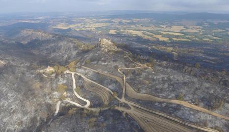 L'incendi de la Conca de Barberà i l'Anoia, a vista de dron