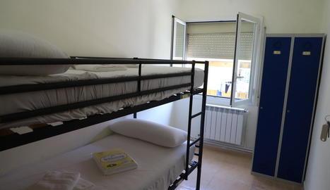 Imatge d'un dels pisos habilitats per a temporers.