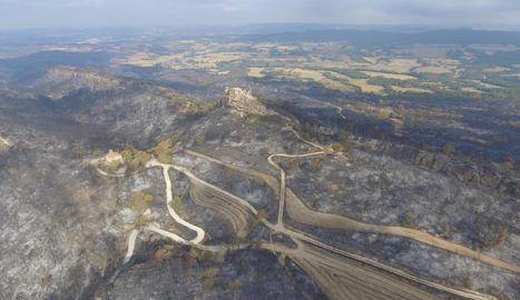 Una de les zones afectades pel gran incendi de l'Anoia.