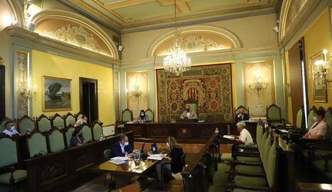 Imatge de l'últim ple municipal, celebrat el dia 20.