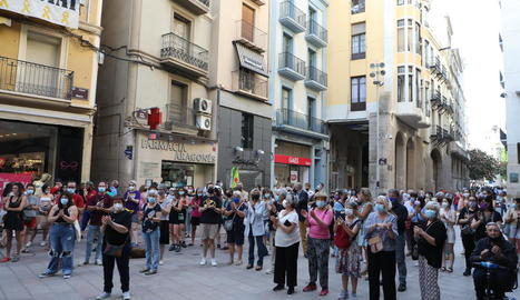 Concentració contra la violència masclista el passat mes de juny a la plaça Paeria.