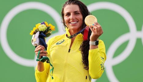 La urgellenca, contenta a l'acabar la final tot i que sabia que la medalla era missió impossible.