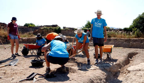 Les excavacions al jaciment de l'Hort del Cavaller d'Isona deixen al descobert com era la trama d'una ciutat romana