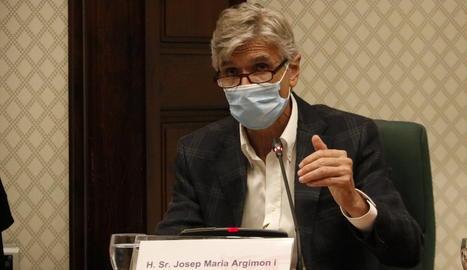 El conseller de Salut, Josep Maria Argimon.