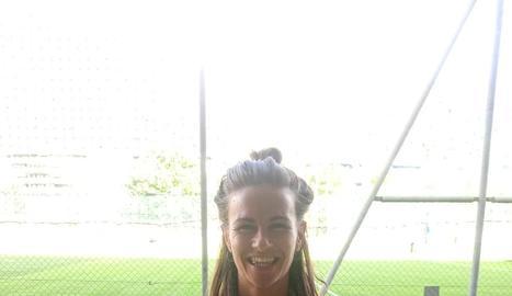 Maria Siegrist, abans d'un entrenament amb el seu nou equip.