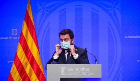 """El president Aragonès va augurar ahir que les negociacions de la taula de diàleg seran """"complexes""""."""