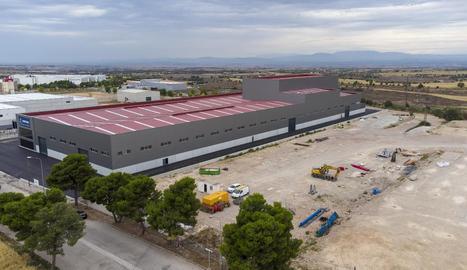 Imatge de les instal·lacions i les obres de la multinacional gallega Cortizo a Cervera.