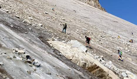 Demanen prudència als excursionistes que volen fer l'Aneto per l'acumulació de gel fòssil al glaciar