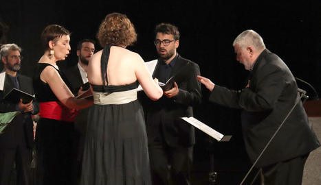 El grup Ensemble Brudieu en l'acte inaugural del FeMAP a la Seu d'Urgell.