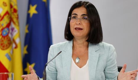 La ministra de Sanitat, Carolina Darías