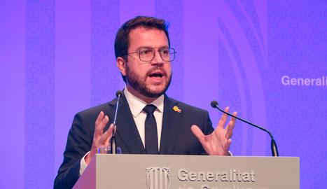 El president del Govern, Pere Aragonès.