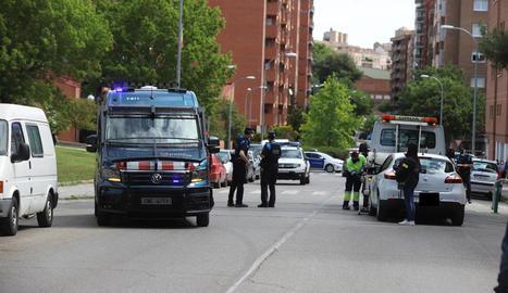 Desplegament policial el passat 10 de maig després del segon tiroteig a la Mariola.