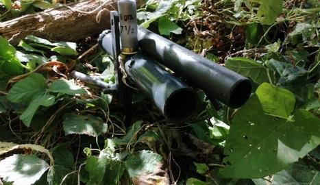 Un dels paranys preparats per disparar cartutxos.