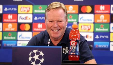 Ronald Koeman, en la roda de premsa prèvia al debut a la Champions davant del Bayern.