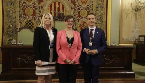 Maria Burrel, Ángeles Ribes i  Osorio, que va dimitir, formaven el grup de Cs a l'inici d'aquest mandat.