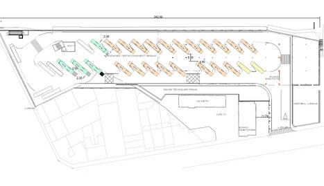 El plànol de la nova estació d'autobusos de Lleida.