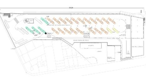 La futura estación, en el edificio de los Docs junto a La Meta, tendrá hasta 32 andenes, el doble que los previstos en su ubicación inicial debajo del puente de Príncep de Viana.