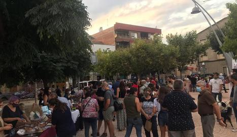 L'acte de promoció de la cooperativa Mengem Garrigues a Juneda.