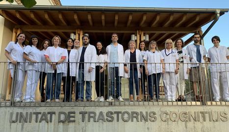 Els investigadors de la Unitat de Trastorns Cognitius de l'Hospital Universitari de Santa Maria de Lleida.