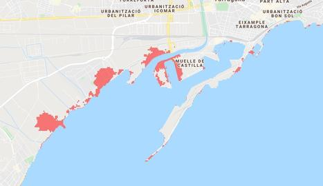 Tarragona és una de les ciutats damnificades per la pujada del nivell del mar.