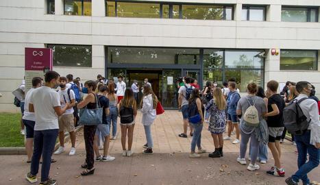 Alumnes que van fer la selectivitat al setembre.