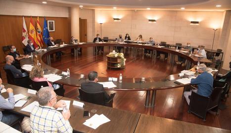 La reunió que es va celebrar ahir a Osca.