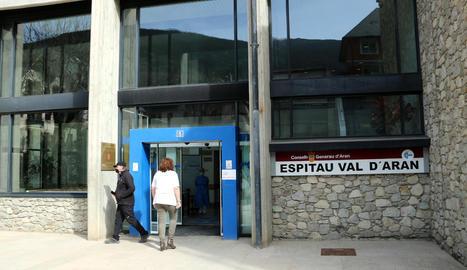 Imatge d'arxiu de l'entrada de l'hospital de Vielha.