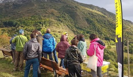 Turistes mirant la brama dels cérvols al Parc de l'Alt Pirineu i la Reserva de Caça de l'Alt Pallars.