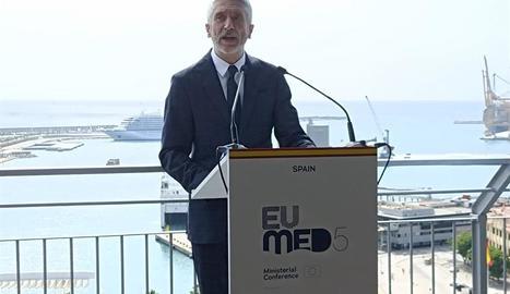 El ministre de l'Interior, Fernando Grande-Marlaska, ahir a Màlaga.