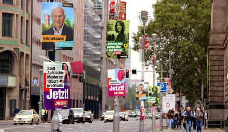 Empat tècnic entre la CDU i l'SPD, segons els sondejos a peu d'urna