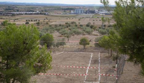 Imatge de l'inici dels treballs.