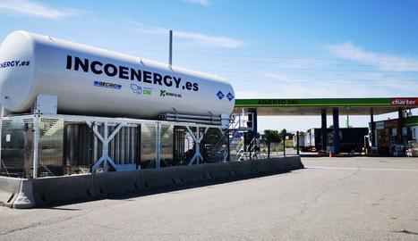 Aquesta és la primera estació de gas natural vehicular de Lleida