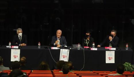 Romero, Sánchez-Vizcaíno, Guillaumes i Bernis, en la jornada a la Llotja de Lleida.