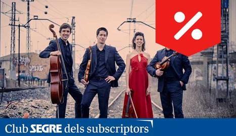 El quartet de corda interpretarà obres de Ravel, Schumann, Berg i Mendelssohn.