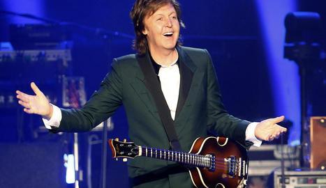L'ex-Beatle Paul McCartney, en una imatge d'arxiu d'un dels seus concerts en solitari.
