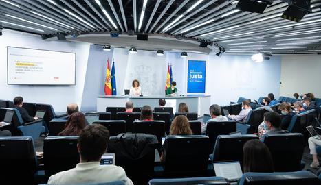 Una roda de premsa del Govern espanyol.