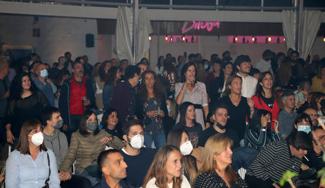 Públic a la discoteca Biloba, divendres passat en el concert de Sidonie del Lleida Music Festival.
