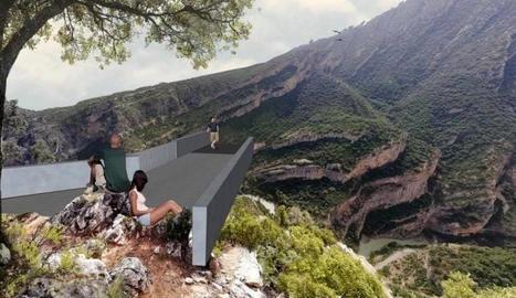 Imatge simulada de com quedaria el mirador a Roca Regina.