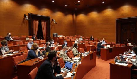 Una de les comissions que s'han celebrat aquest dijous al Parlament.