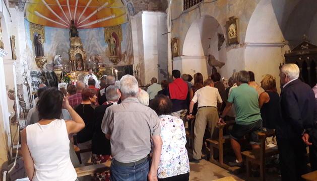 La missa celebrada aquest diumenge a l'església de Vilamur.