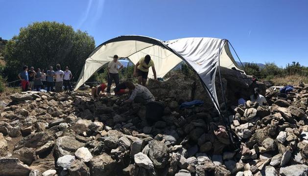 Las excavaciones han tenido lugar durante las últimas tres semanas en Bescaran.