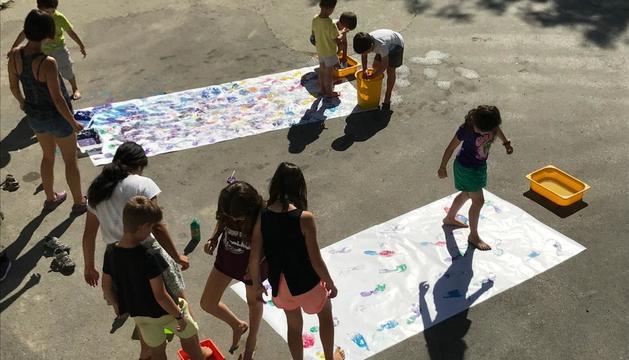 Los niños de la escuela de Lles de Cerdanya.